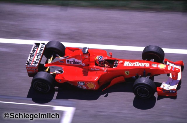 Michael Schumacher driving a Ferrari F1 Car