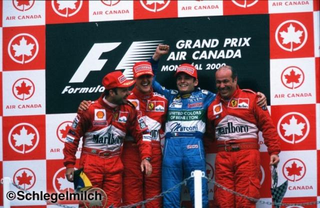 Schumacher, Barrichello, Fisichella