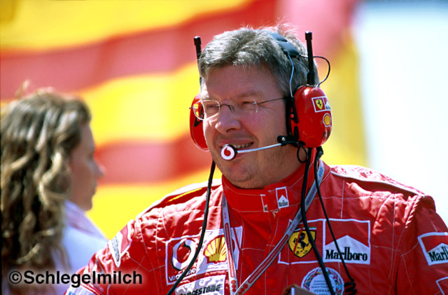 Ross Brawn in Ferrari clothing