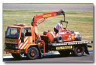 Schumacher's crashed Ferrari F1 car