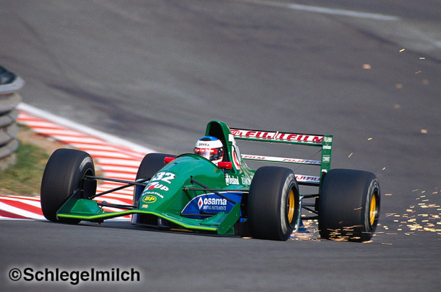 Michael Schumacher driving a Jordan